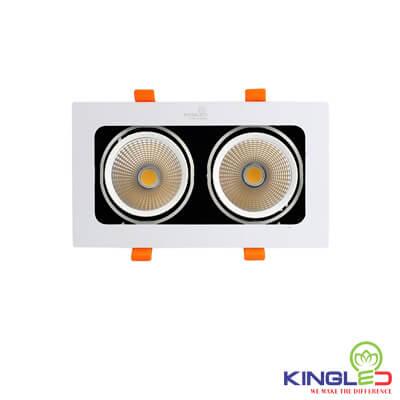đèn led âm trần spotlight kingled đôi 20w