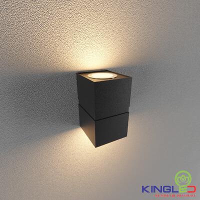 đèn led gắn tường kingled lwa0150b-bk