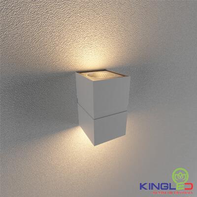 đèn led gắn tường kingled lwa0150b-wh