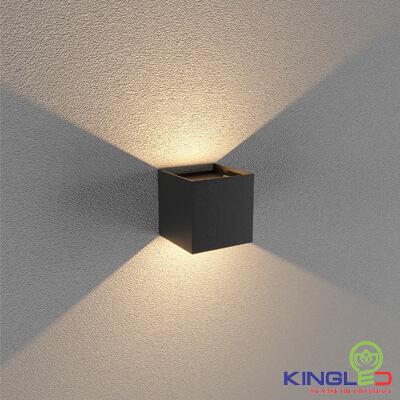 đèn led gắn tường kingled lwa5011-bk