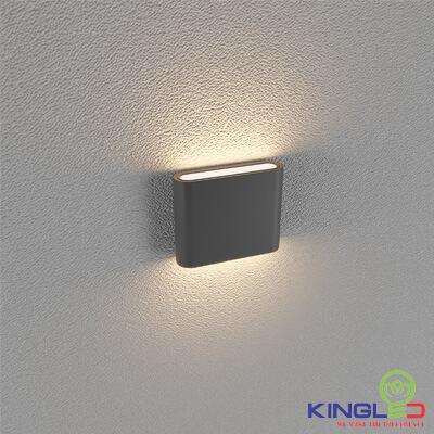 đèn led gắn tường kingled lwa8011-s-bk