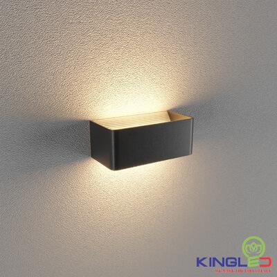 đèn led gắn tường kingled lwa9011-2-bk
