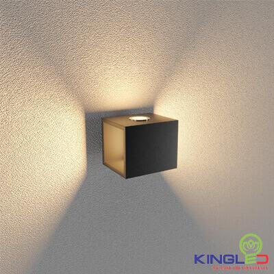 đèn led gắn tường kingled lwa901a-bk
