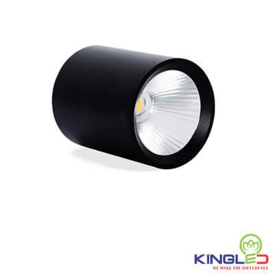 đèn led ống bơ kingled chiếu rọi 12w vỏ đen