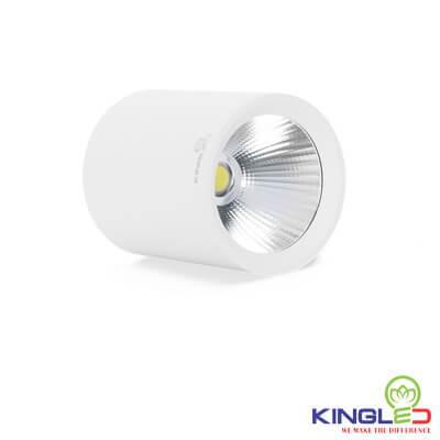 đèn led ống bơ kingled chiếu rọi 12w vỏ trắng