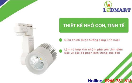 thiết kế của đèn led rọi ray kingled 12w vỏ trắng