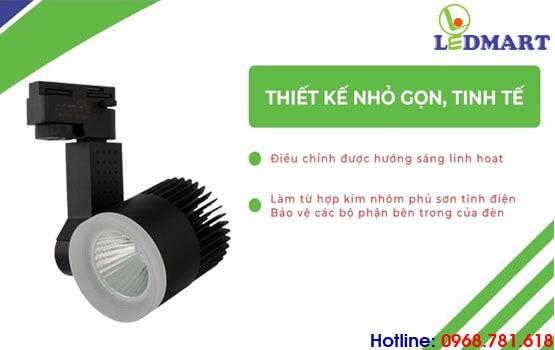 thiết kế của đèn led rọi ray kingled 30w vỏ đen