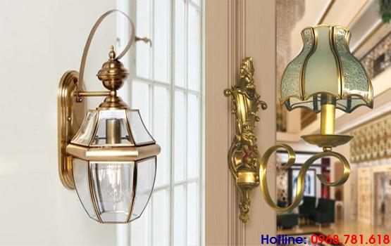 đèn ngủ treo tường bằng đồng