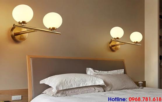 đèn ngủ treo tường đẹp bằng thủy tinh