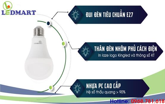 thiết kế của đèn led búp kingled